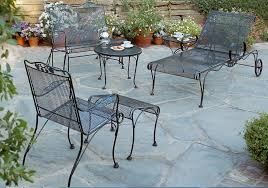 furniture design ideas vintage rod iron patio sets intended for