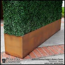 corten steel planter rectangle weathered steel planter rusted finish