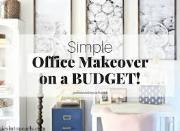 How To Decorate A Home Office On A Budget Pennies Into Pearls Living Pretty For Just Pennies