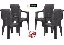 nilkamal mystique chair set of 4 brown u2013 homegenic