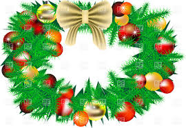 christmas wreath with decorations vector image 25410 u2013 rfclipart