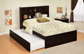 Espresso Twin Trundle Bed Kids Beds
