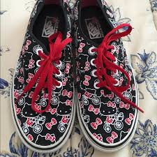36 kitty shoes kitty vans black red white