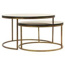 gold nesting coffee table leona modern black polish antique gold nest coffee tables kathy