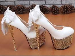 wedding shoes high sparkly wedding shoes weddbook