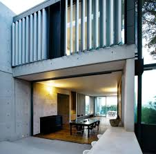 amazing off form concrete deck contemporary with wood columns