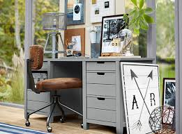 grey desk with drawers sutton grey desk study pbteen