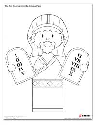 10 commandments coloring page to encourage to color an images