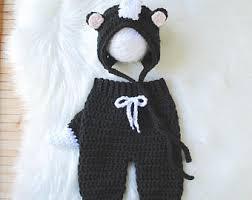 Etsy Newborn Halloween Costumes Skunk Costume Etsy
