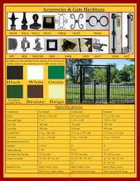 ornamental aluminum fencing brochure