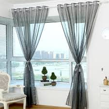 Light Silver Curtains Simple Chic Silver Gray Organza Light Transparent Sheer Curtain