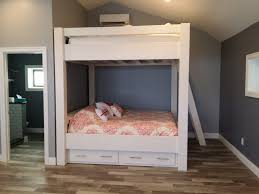 Bunk Beds King Custom King King With Lots Of Headroom Drawers And Shelf