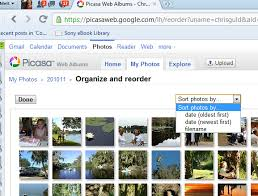 picasa tip sorting pictures in reverse chronological order
