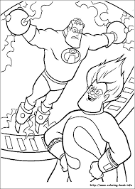 incredibles 1 disney coloring pages