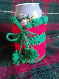 wine bottle christmas coozie i crocheted crocheting my