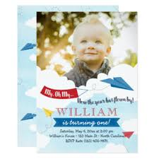 airplane birthday invitations u0026 announcements zazzle