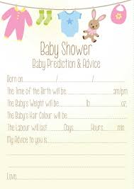 baby shower advice cards baby shower prediction and advice neutral theme co uk