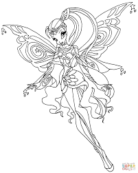 stella the princess of solaria coloring page free printable