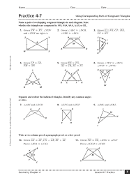 Similar And Congruent Figures Worksheet Congruent Triangles Worksheet Answers Digitaldinosaurgames Com