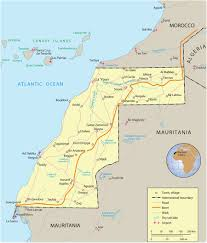 Map West Africa by Map Of Western Sahara Travel Africa