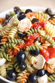 Best Pasta Salad Recipe by Tri Colored Pasta Salad Recipe Courtney U0027s Sweets