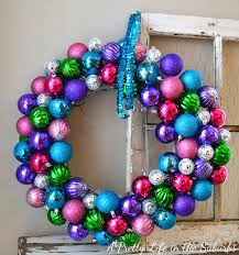 my sparkly ornament wreath a pretty in the suburbs