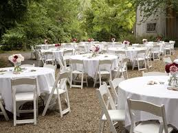 round outdoor table and chairs simple outdoor wedding ideas