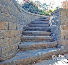 Retaining Wall Stairs Design Retaining Wall Steps A Garden Step Made Of Rock With Fuchsia Mixed