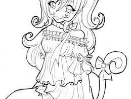 anime cat coloring pages coloring pages anime cat coloring pages