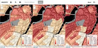 Map Downtown Boston by The Idea Behind This Map Of Boston Rent Increases News Renting