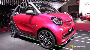 pink car interior 2017 smart fortwo cabrio electric drive exterior and interior