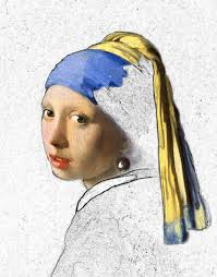 vermeer girl with pearl earring painting digital karla beatty for interiors