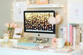 Girly Desk Accessories Miss Liz Updated Desk Tour W O R K S P A C E