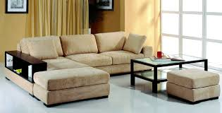 Indian Corner Sofa Designs Beige Microfiber Sectional Sofa W 2 Ottomans U0026 Bookcase
