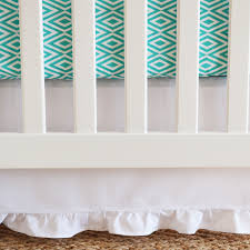 pure white gathered crib skirt oliver b