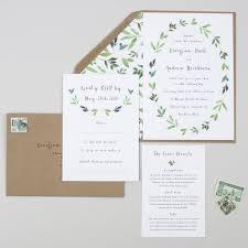 garden wedding invitations botanical garden wedding invitation by pear paper co