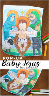 pop up baby jesus printable activity baby jesus activities and