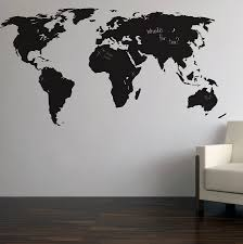 Diy World Map by Chalkboard World Map Wall Sticker Blackboards Wall Sticker And