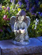 solar powered holding dove garden statue led light outdoor