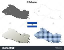Blank Map Of El Salvador by El Salvador Blank Detailed Outline Map Stock Vector 200505113