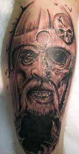 realistic viking warrior face tattoo real photo pictures images