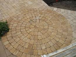 Simple Brick Patio With Circle Paver Kit Patio Designs And Ideas by Paver Patio Designs And Ideas