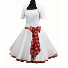 brautkleid wei rot petticoatkleid brautkleid weiß rot punkte