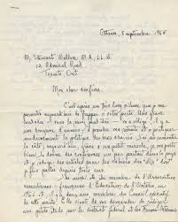 autographed signed letter in french from séraphin marion to w