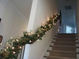 Christmas Banister Garland Garland Decorating Staircase Wedding Decor