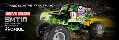 remote control grave digger monster truck new grave digger r c from axial monster jam
