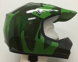 boys motocross helmet dot atv dirt bike mx kids youth army camo motorcycle helmet