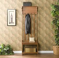 Coat Rack With Bench Seat Furniture Solid Wood Entryway Bench With Coat Rack And Shoe