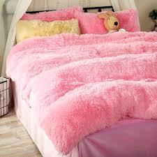 soft pink fleece duvet cover set queen size girls bedding duvet