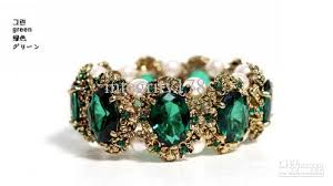 pearl style bracelet images 2018 high quality fashion emerald precious stones inlaid pearl jpg